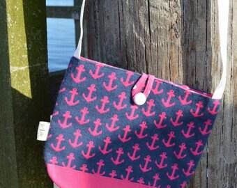 Nautical Anchors Crossbody Bag, Handbag