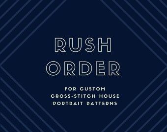 RUSH ORDER for Custom Cross-Stitch House Pattern