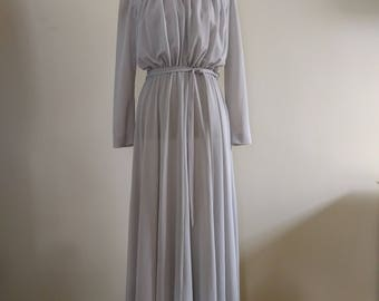 Vintage Light Grey Gown/Maxi Dress.