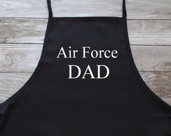 Air Force DAD Apron w/Pockets, Embroidered (Times New Roman Font) ***Ready to Ship in 1 Day!