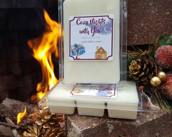 HOLIDAY CLEARANCE- 40% OFF- Cozy Nights with You - 6 Pack Jumbo Soy Melts - Seasonal Soy Melts -  Winter Scents - By the Fire