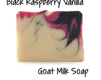 Black Raspberry Vanilla Goats Milk Soap Free Shipping on all orders over 50.00 Dollars