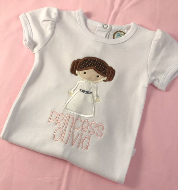 Princess Leia Applique Shirt