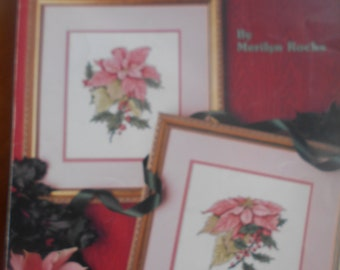 Poinsettias, Leisure Arts, Pattern Leaflet #900, 1990