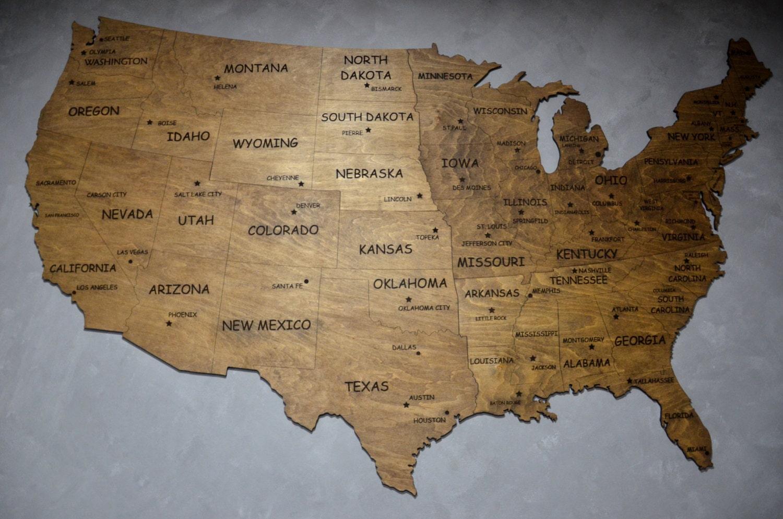 Usa Wall Map United States Map Of Usa Travel Wall Art Usa