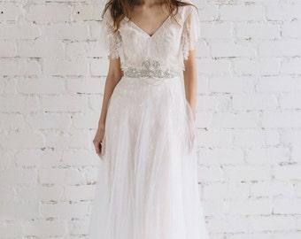 Bohemian Wedding Dress Two Piece Wedding Dress Bridal