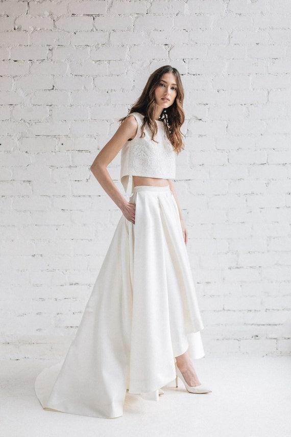 Wedding dress bridal separates two piece wedding dress like this item junglespirit Choice Image