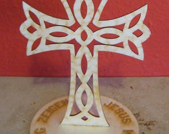 Wooden crosses with motifs