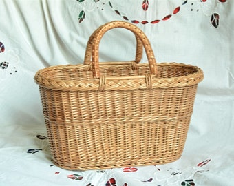 Wicker Purse, Wicker Bag, Handwoven Willow Handbag, Small Wicker Bag, Willow Purse, Small Basket Purse, Basket Bag, Basket Tote
