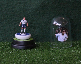 Glen Hoddle (Tottenham Hotspur) - Hand-painted Subbuteo figure housed in plastic dome.