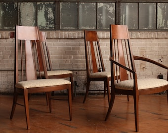 Set of 4 MCM Highback Chairs