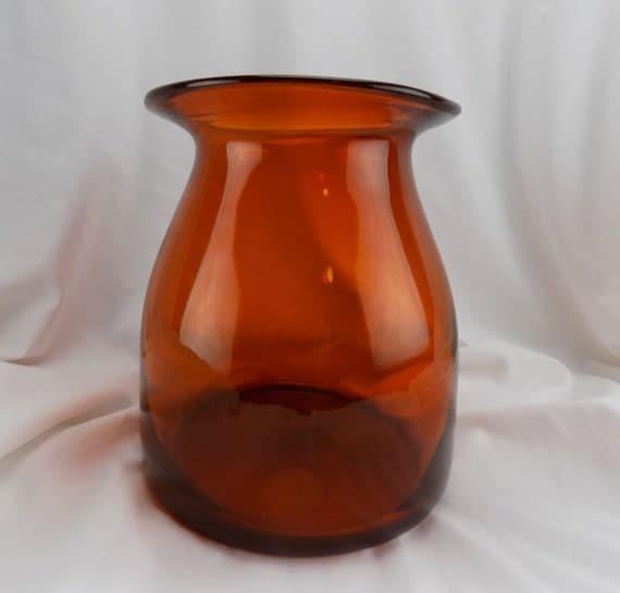 Art Glass Large Persimmon Orange Studio Glass Water Carafe-Vase-Container Home Decor