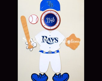 Baseball Mickey Mouse (choose your favorite team) College or Professional Magnet for Disney Cruise Door