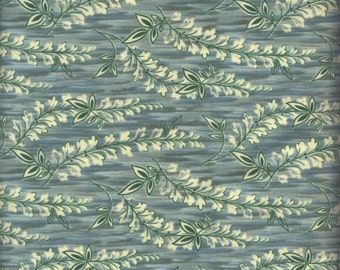 Contessa Court fabric. slate leaves vine leaf quilters cotton quilting Blank Textiles 619096125513