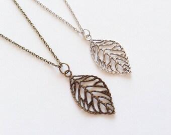 LEAF Necklace Leaf Jewelry Leaf Gift Nature Lover Gift Leaf Pendant Leaf Charm Wood Lover Necklace Nature Lover Necklace Plants Jewelry Gift