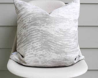 "20"" x 20"" Gray Watercolor Pillow Cover - COVER ONLY"