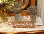 Sparklers Wood Sign - Wooden Wedding Signs - Wood