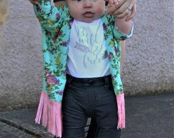 Toddler kimono, girls kimono, girls cardigan,boho kimono