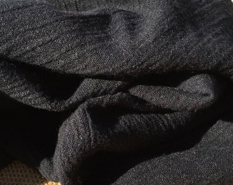 "58"" Black Rayon Crepon Like-Gauze Light Weight Woven Fabric By the Yard"