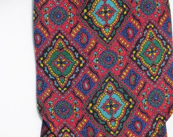 1960's Vintage Mixed Colour Patterned Cravat