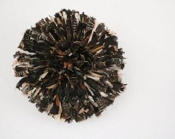 Juju hat natural dark 80 cm 31 '' dark natural juju hat feathers