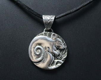 Sterling Silver Chinese Zodiac Year of the Rat Pendant