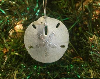Nautical Christmas –Sand Dollar Ornament –Nautical Ornament -Coastal Christmas –Beach Christmas Ornament –Beach Ornament –Sea Shell Ornament