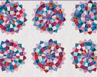"""MSQC - Checkered Dresden - Quilt Pattern for 2-1/2"""" Strips by Missouri Star Quilt Co."""