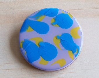 Handmade Resin Brooch | Contemporary Wearable Art | Hand Painted