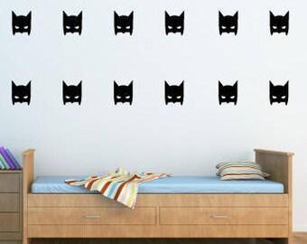 Batman Mask Vinyl Wall Decals