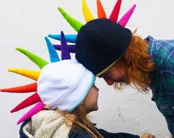 Rainbow Spike Mohawk Hat