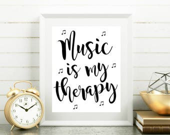 Music quote poster, New apartment decor, No stress gift, Coworker funny gift, Office gift for boss Wall art Wall decor Poster Art print
