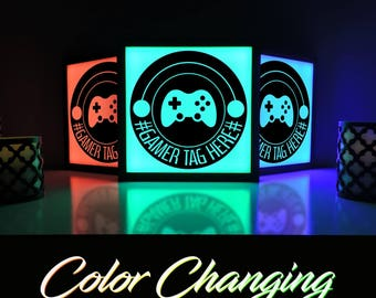 Video Game Lamp, Video Game Light, Gaming Light, Video Game Decor, Custom Gamer Tag, Xbox, Cool Gamer Gift, Video Game Wall Art, Geeky Gift