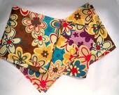 Precut Quilt Squares, Retro Color Flowers, Cotton Fabric Pieces, Floral Material, DIY Project