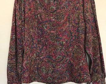 Multicolored Evan Picone blouse