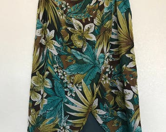 CLEARANCE Green and blue floral Barry Brocken skirt