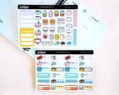 Functional Planner Sticker Sampler set - Decorative Planner Sticker Sampler Set | Kikki K, EC, Filofax, Happy Planner | Assorted stickers