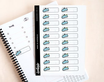 Sports trainer stickers - 20 functional planner stickers, fitness stickers full box, kawaii sticker, health tracking, weight loss planner