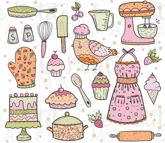 Kitchen Window Clip Art: Cute Baking Clip Art Kitchen Clipart Cooking Clipart Bird