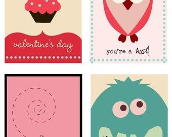 VALENTINES DAY - Valentine Cards - Instant Download - Digital Printable Design - Printable Christmas Card - Valentine Printable