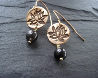 Lotus Earrings / Flower Earrings / Yoga Earrings / Yoga Jewelry / On Sale
