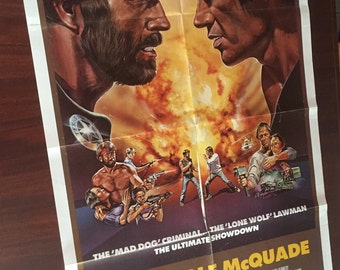 Original Film Poster for the Lone Wolf McQuade a Chuck Norris Vintage Movie Poster (1983)