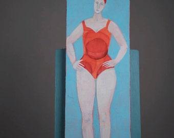 Summer, The Four Seasons, original artwork, painting, acrylics