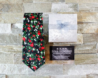 Floral tie. Flower Tie. Skinny Tie. Floral necktie. Necktie. Tie. Neck tie. Wedding Tie. Cotton tie. Groom Tie. Mens tie.