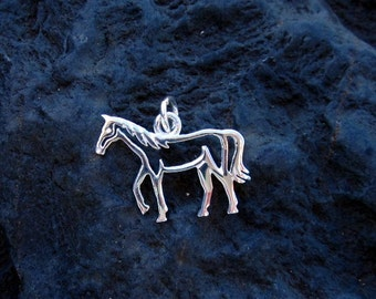 Sterling Silver Horse Pendant - #337