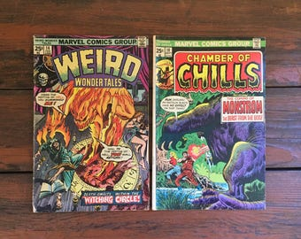 1975 Weird Wonder Tales #14 and 1975 Chamber of Chills #18 Comic Books/ Marvel Comics/ Choose One or Both for a Discounted Price!