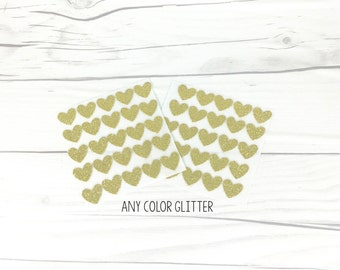 Gold Glitter Heart Stickers, Any Color Glitter Heart Stickers, Gold/Silver Glitter Heart Stickers, Heart Envelope Seal