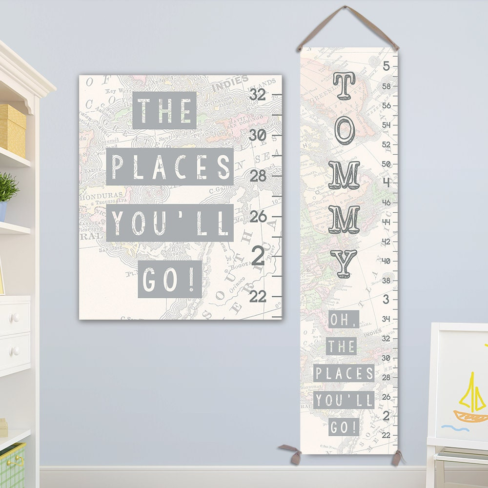 Oh the places youll go art personalized canvas growth chart oh the places youll go art personalized canvas growth chart height chart boy growth chart canvas growth chart gc8003s nvjuhfo Image collections