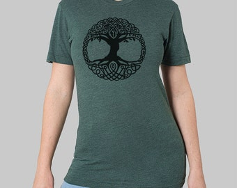 SALE Celtic Tree T-Shirt - American Apparel shirt, on sale, sale items, clearance, graphic tee, plus size t-shirt