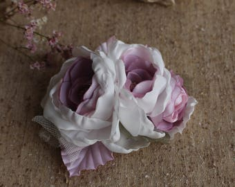 Bridal Flower Fascinator,Bridal flower Headpiece,flower bridal hair clip,Blush wedding Hair Flower,Women girl hair flower,Wedding Barrettes